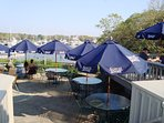 Have dinner on the patio at Brax Landing overlooking Saquatucket Harbor - Harwich Port Cape Cod New England Vacation...