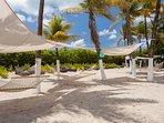beach lounge area