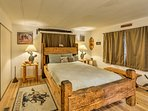 You'll find a plush queen bed in the first bedroom.