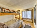 Kids will enjoy the twin-over-full bunk bed in this room.
