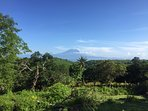 Mountain Agung and sea view