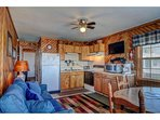 Living/Kitchen/Dining Area w/ Queen Sleeper Sofa