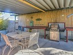 Bring the group onto the covered patio for a cookout in the fresh air!