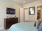 Master bedroom with King & TV