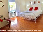 deluxe king room 1 with French doors to the verandah