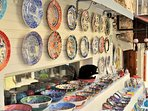 Kalkan ceramics make a lovely souvenir to fit in your suitcase
