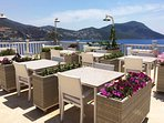There are lots of rooftop, sea-view restaurants to choose from in Kalkan offering delicious menus