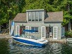 Spacious boathouse