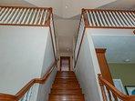 Stairway to the loft bedroom.