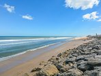 View to the south of this beautiful quiet end on New Smyrna Beach.