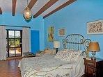 Blue Bedroom with queen bed