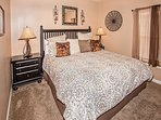 Cedar Lodge 404 Guest King Bedroom with Flat Screen TV