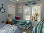 The 3rd bedroom has a queen & 2-twin beds. Great for families w/ children.