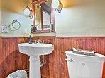 The en-suite bathroom offers a walk-in shower.