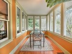 Sip coffee and enjoy breakfast at the 4-person table in the sun room.