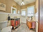 The powder room offers added convenience during your stay.