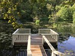 Step out to the dock on the private lake for a peaceful afternoon.