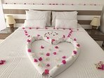 maid service prepares your bed for a restful nights sleep- linen and towels changed twice per week