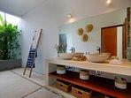 spacious and bright bathroom