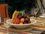 enjoy the abondance of fresh fruits