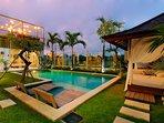 the villa offers beautiful sunsets