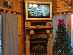 Log Framed TV