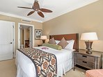 The master bedroom offers a sumptuous king size bed