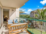 Step outside onto the expansive 145 sq ft balcony