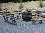 Secluded Fire Pit Area