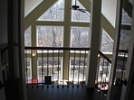 top floor French doors with curtain