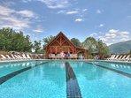 Beat the heat by splashing around in the community pool.
