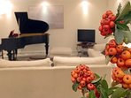The Bosendorfer grand piano (the 'Bentley' of pianos) adds a musical attraction to the villa