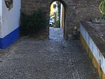 Nearest entrance to Obidos village - about 100 metres