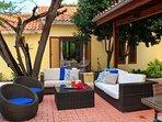 Outside patio lounge set