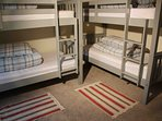 Room 3 - bunk room with 2 double bunks