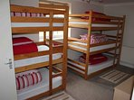 Room 6 - bunk room with 2 triple bunks