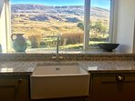 Lovely view of Moel Siabod from the kitchen sink!