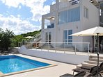 Villa Magdalen offers a lot of space over 3 floors, a large private pool, and unobstructed sea views
