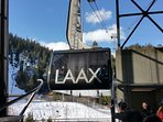 Laax gondola to  'CrapSognGion': 'Saint John's stone' in Romansh, a Romanian dialect in Switzerland.