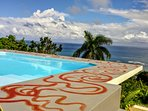 Cool off in our outdoor jacuzzi and plunge pool while enjoying the spectacular oceanview.