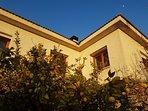 La fachada sur proteje a los limoneros... todo es natural y hogareño en 'Las Hazas'