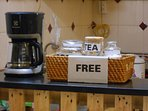 Free coffee and tea with in-room coffeemaker