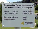 Laaxer-Lake information: Great swimming! (FREE with a visitor's card; at Laax information center).