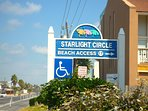 This public beach assess that is handicap accessible is only 3 houses from the Jupiter villa