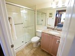 Newly renovated master ensuite with granite counters & walkin shower