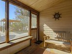 Read a book and feel the cool seabreezes in our screened-in porch.