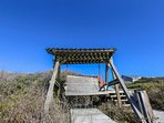 You'll love our private boardwalk & deck nestled among the sand dunes.