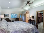 Very cozy master suite with private ensuite bath, private deck and spacious walk in closet.
