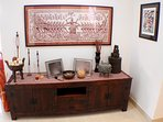 Cambodian art with African and Indian accents