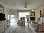Master bedroom suite with view of ocean